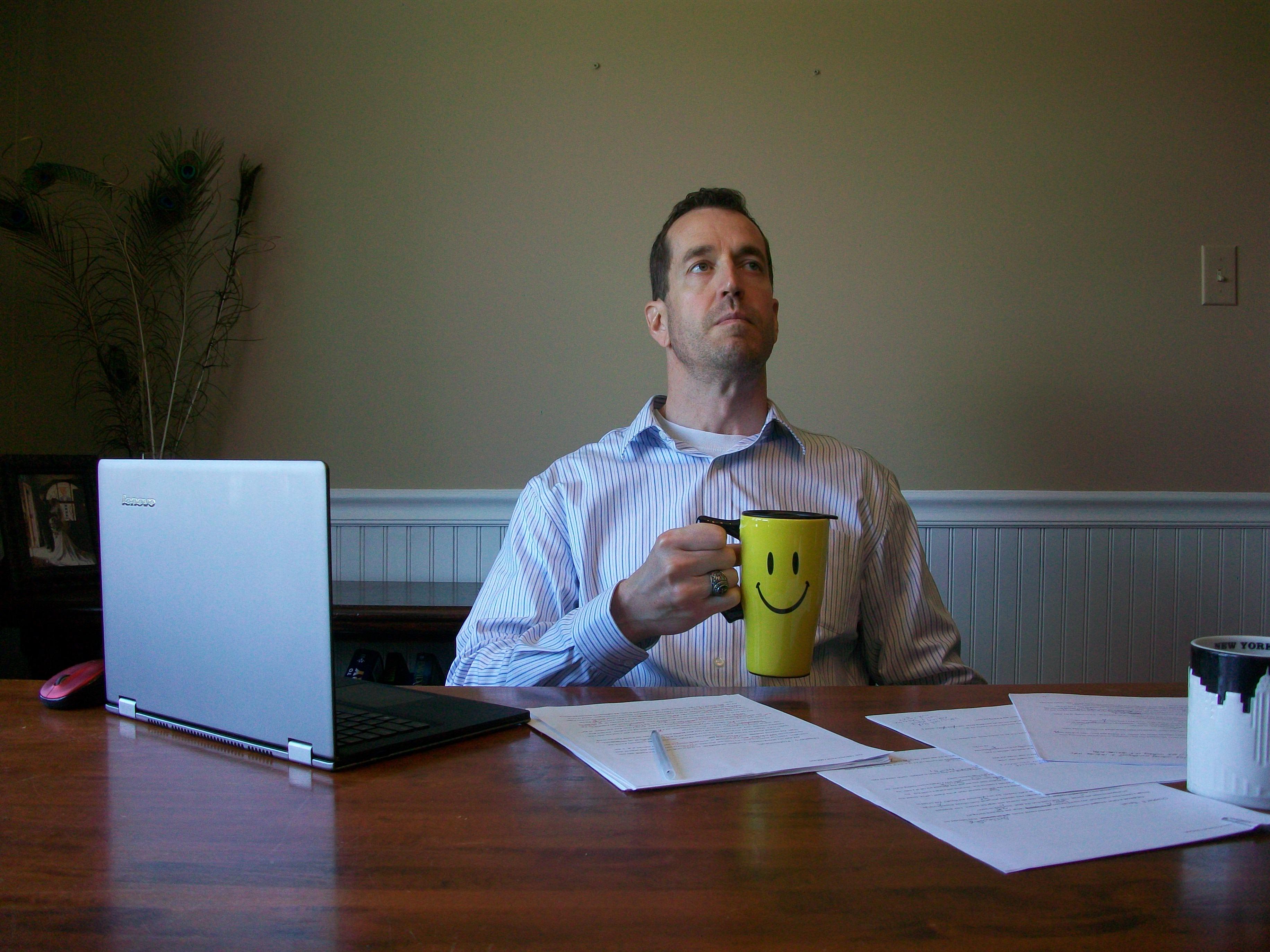 Author David McCaleb Happy Face