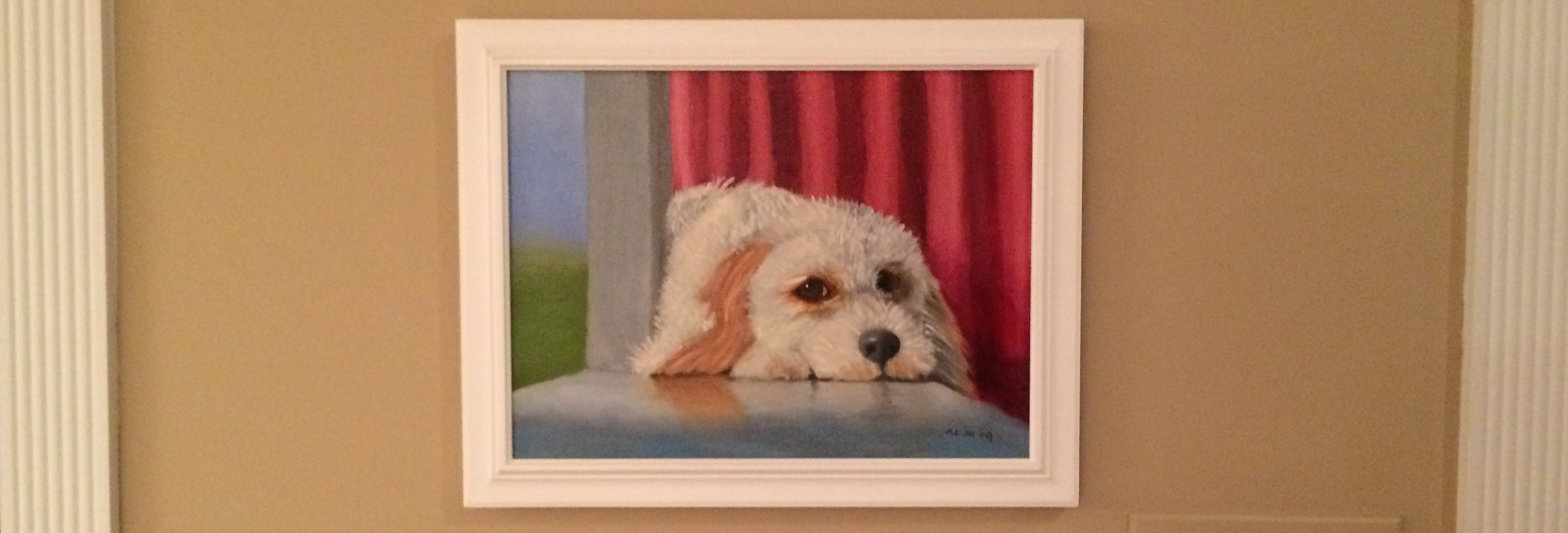 Painting of our dog Peanut
