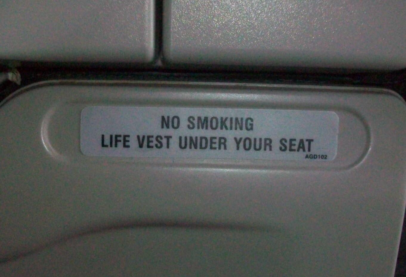 No Smoking Lifevest edit error