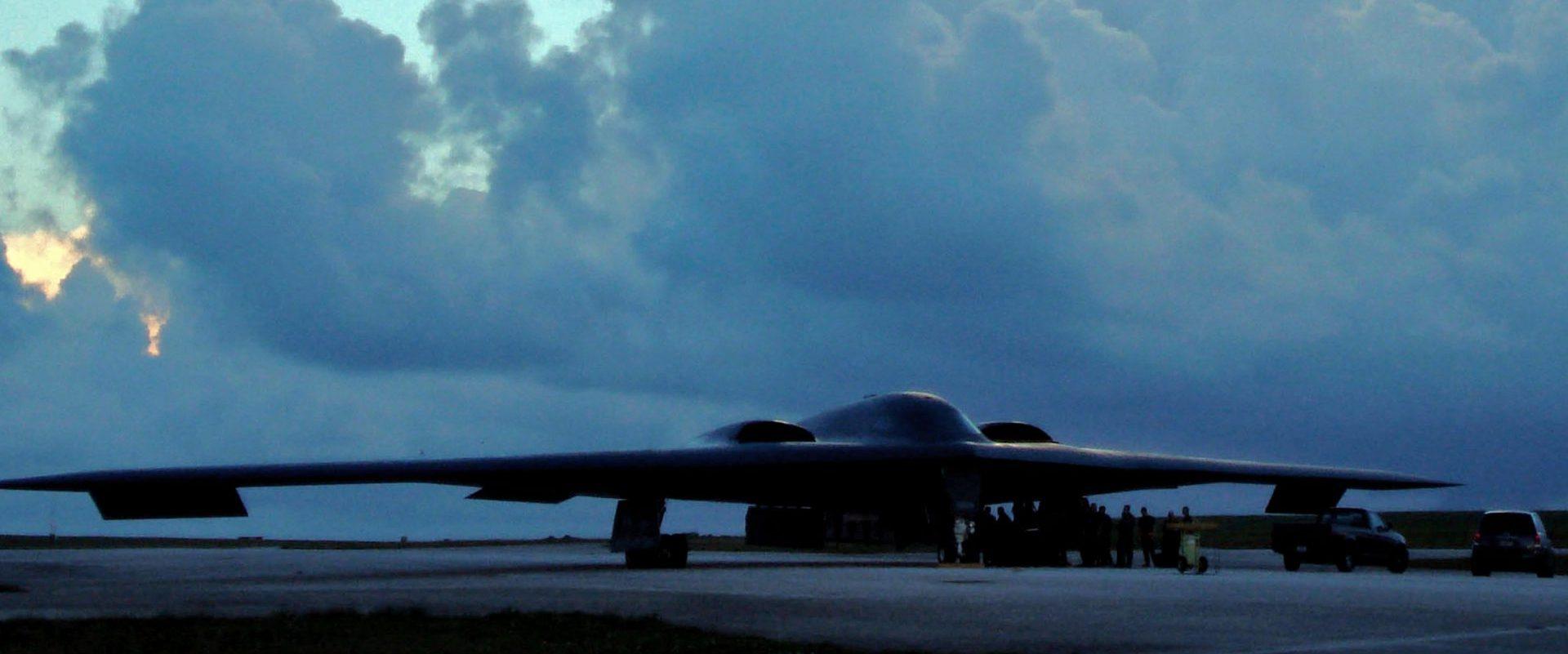 Calendar of Events, image of B-2 Spirit at Andersen Air Force Base, Guam.